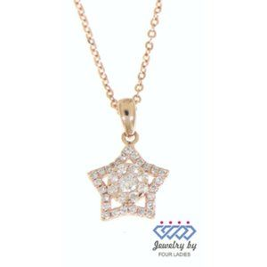 Natural Star Diamond Pendant FineJewelry Rose Gold